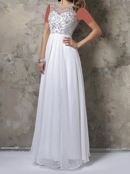 مدل لباس مجلسی سفید بلند, لباس های مجلسی جدید سفید