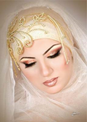 تور سر برای لباس عروس بچه مدل تور تاج عروسهای محجبه