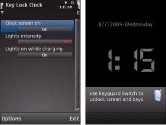 اسکرین سیور ساعت با قفل اتوماتیک با نرم افزار Key Lock Clock v0.77