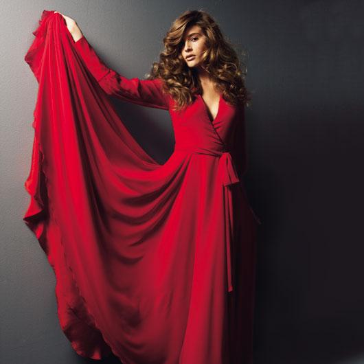 لباس قرمز بلند