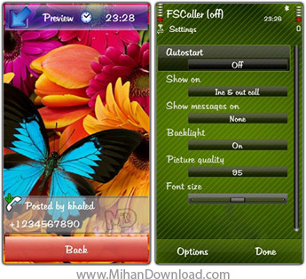 نرم افزار نمایش فول اسکرین تصویر تماس گیرنده سری 60 ورژن 3 و 5 Smartphoneware Best Full Screen Calle