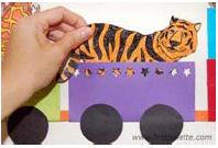 کاردستی جرثقیل Hayvanlar Treni (yapılışıyla) Okul Öncesi Okul Öncesi Etkinlikleri , Ana Okulu