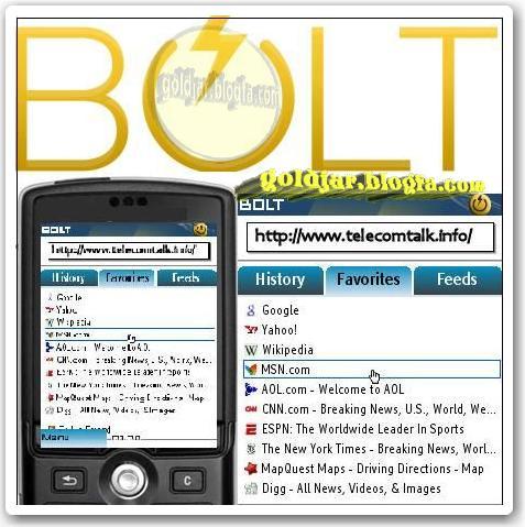 مرورگر قدرتمند BitStream Bolt Browser برای موبایل -جاوا