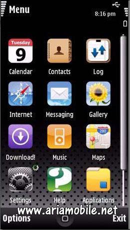 دانلود تم Iphone برای سیمبین