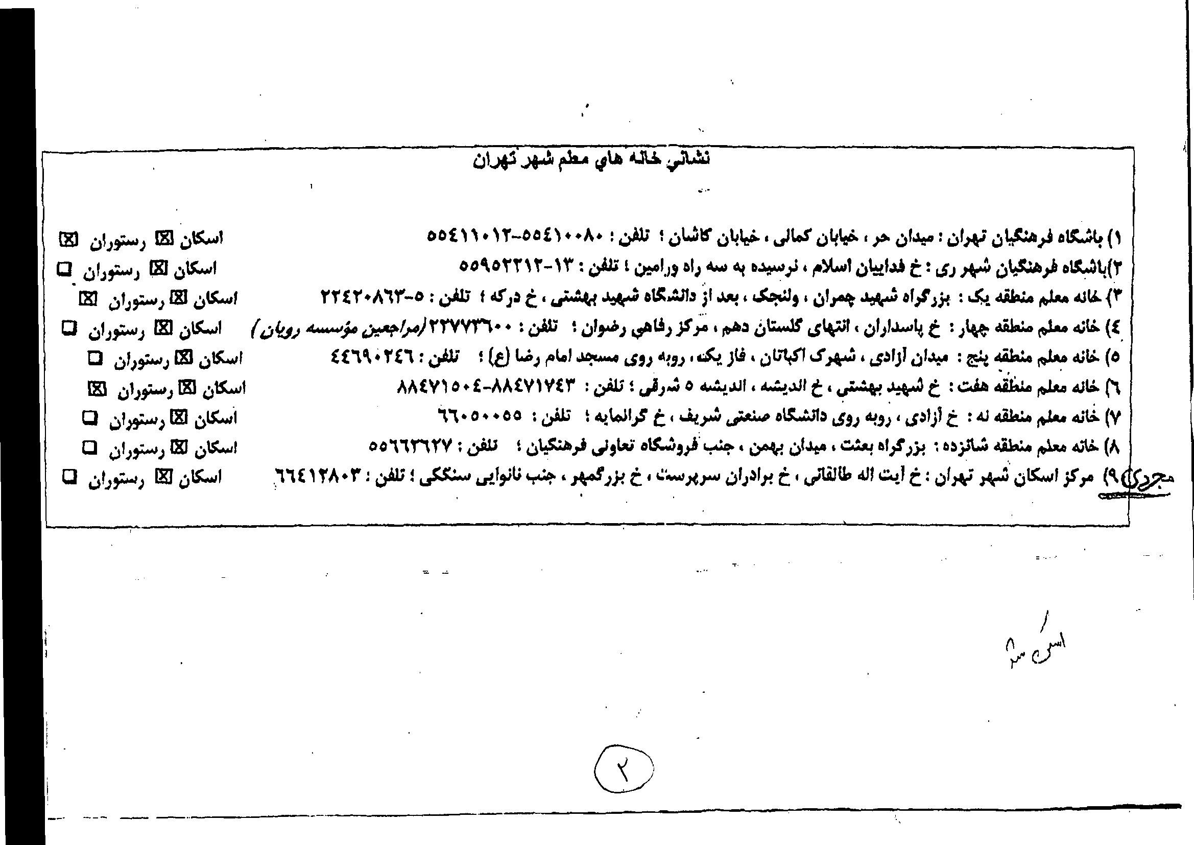 ستاد اسکان فرهنگیان در تهران قیمت خانه معلم تهران | 1 ریال مرجع آخرین قیمت ها