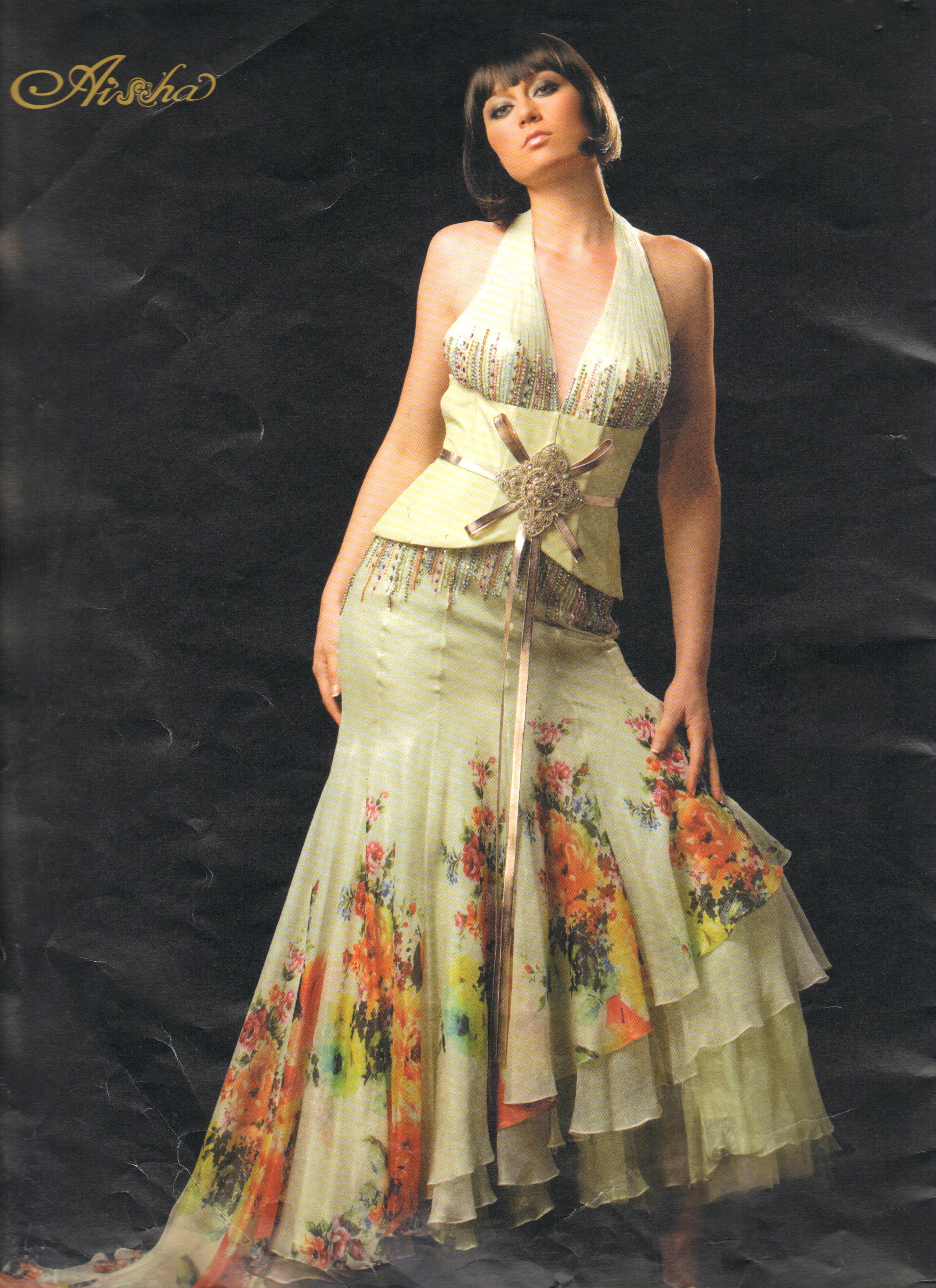 مدل+لباس+حریر+گلدار