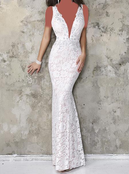 مدل لباس مجلسی سفید بلند,لباس مجلسی به رنگ سفید