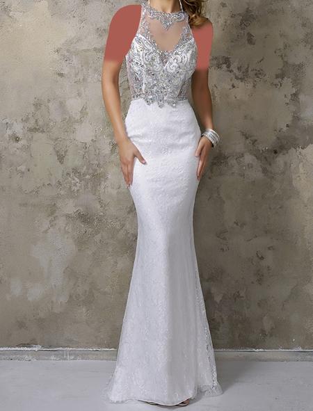 شیک ترین لباس مجلسی های سفید, لباس سفید بلند