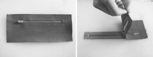 آموزش دوخت کیف پول چرم