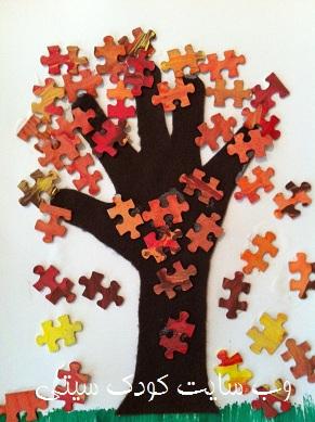 کاردستی چهار فصل برای تزیین کلاس کودکان پیش دبستانی